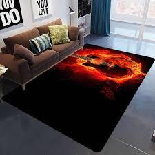 Music Living Room 3d Printed Carpet Guitar Drum Rug For Kids Room Abstract Flame Carpet Bedroom Living Room Anti Slip Floor Mat Carpet Aliexpress