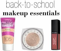 3 back to makeup essentials