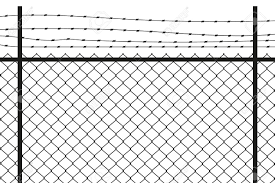 Silhouette Graphic Depicting A Chain Link And Barbed Wire Fence Royalty Free Cliparts Vectors And Stock Illustration Image 134495987