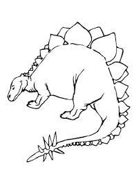 Stegosaurus Jurassic Dinosaurus Kleurplaat Kleurplaten