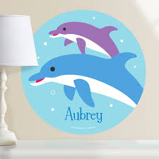 Dolphins Personalized Kids Wall Dotz Decal Art Appeel