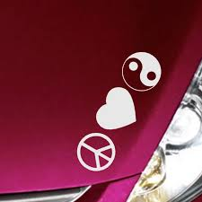Empireying 8 Colors Warm Logo Combination Peace Love Yin Yang Tai Chi Gossip Car Sticker Leisure Covers Reflective Vinyl Decals Vinyl Decal Car Stickervinyl Car Decal Aliexpress