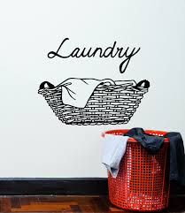 Vinyl Wall Decal Laundry Room Dry Basket Cleaning Cleaner Stickers Mur Wallstickers4you
