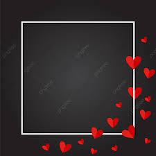 رمادي غامق الحب الإطار ناقلات خلفية التصميم حب الحب دعوه تصميم