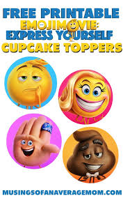Emoji Movie Cupcake Toppers Decoracion Emoji Emoji Y Emojis
