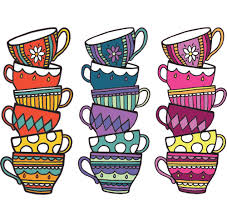 The Decal Store Com By Yadda Yadda Design Co Clr Wall Teacups Tea Party Cafe Cuppa Alice In Wonderland