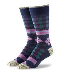 Robert Graham Multi Diamond Crew Socks