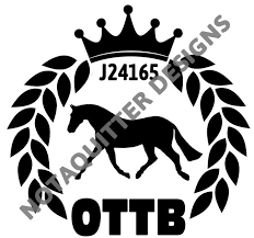 Ottb Decal Custom Off The Track Thoroughbred Decal With Jockey Club Number Sold By Carolina Bay Clothing Co On Storenvy