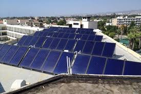 building solar panels and solar water
