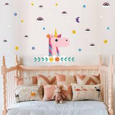 Unicorn Wall Decal Wall Sticker For Bedroom Girl S Room Decor