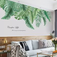 Fairy Tale Wall Stickers Wall Decal Plants Tropical Leaves Large Leaves Green Living Room Bedroom Corridor Wall Decoration Wall Stickers Aliexpress