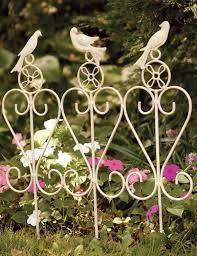Songbird Garden Rail Decorative Garden Edging White Border Fence Garden Railings Flower Bed Borders Garden Edging