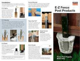 Diy E Z Fence Post Products Diy C