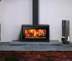 contemporary woodburning stove