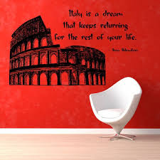 Shop Italy Is A Dream Wall Quotes Italy Words Home Decor Vinyl Art Wall Decor Nursery Room Decor Sticker Decal Size 22x30 Color Black Overstock 14464546