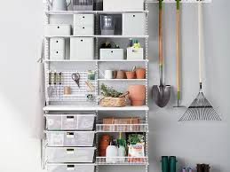 organize lawn and garden tools in the