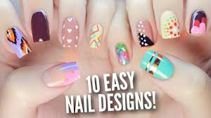 10 easy nail art designs for beginners