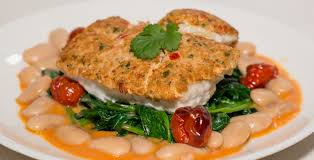 Shrimp-Crusted Grouper with Spinach and ...