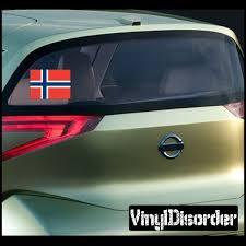 Norway 1 Flag Sticker Car Or Wall Vinyl Decal Vinyl Wall Decals Norway Flag Norway