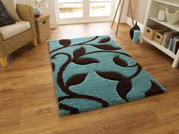 fashion 7647 blue brown rug