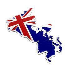 Aluminium England Emblem Decor For Bmw Badge Gb Uk Flag Sticker Car Stickers