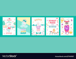 birthday cards quotes for bagirl and kids vector image