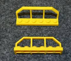 1x6x2 Yellow Fence Brick W Tapered Ends 2 Railroad Lego New Railing Srishtidigilife Co In