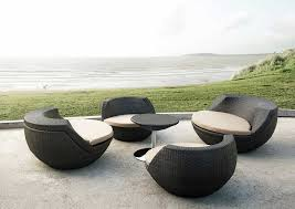 chic modern outdoor patio set egg shape