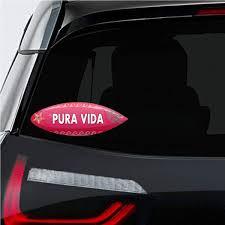 Amazon Com Makoroni Pura Vida Surf Surfing Car Magnet Magnetic Bumper Sticker 3x8 Or 4 5x10 5 Inc Automotive