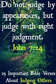 important bible verses about judging others must