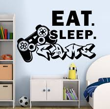 Gamer Wall Decal Eat Sleep Game Decal Controller Video Game Etsy Kid Room Decor Boys Room Decor Room Stickers