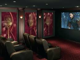 home theater wall panels red acoustic