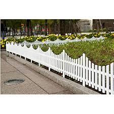 Amazon Com Jumbl Decorative 8 Piece White Picket Garden Fence Border Garden Outdoor