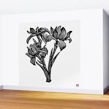 Black Iris Wall Mural By Alaialaica Society6