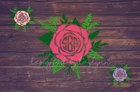 Rose Decal Monogram Decal Decals Yeti Decal Car Decal Etsy Car Monogram Decal Yeti Decals Monogram Decal