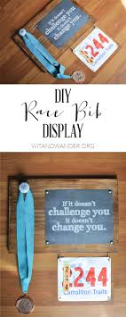 diy race bib display our handcrafted life