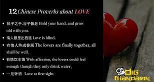 chinese proverbs about love