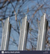 Robust Galvanised Anti Climb Steel Fence Metaphor Keep Out Concept Of Barriers And Us Mexico Border Wall Barriers To Change Protection Security Stock Photo Alamy