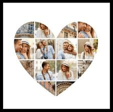 heart photo collage with free heart