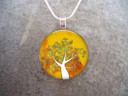 tree jewelry glass pendant necklace