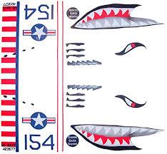 Vinyl Decal Flying Tigers Shark Teeth P 40 Warhawk Ww2 Stickers From Shopforallyou 3