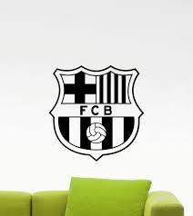 Amazon Com Barcelona Logo Wall Decals Sports Soccer Football Club Emblem Kids Children Poster Stencil Decor Sports Vinyl Sticker Home Art Design Removable Mural 487n Kitchen Dining