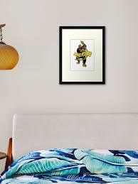 Vintage King Kong Pulp Movie Decal Framed Art Print By Kustom Redbubble