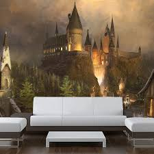 Wall Sticker Mural Harry Potter World Hogwarts Decole Poster Pulaton Stickers And Posters