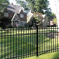 Freedom Heavy Duty Providence 4 Ft H X 8 Ft W Black Aluminum Flat Top Decorative In The Metal Fence Panels Department At Lowes Com