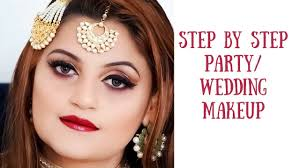 step by step party wedding makeup how