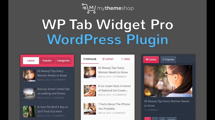 MyThemeShop WP Tab Widget Pro WordPress Plugin