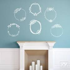 Flower Frame Wall Sticker Frame Vinyl Wall Decal Decorative Set For Walls Wallternatives