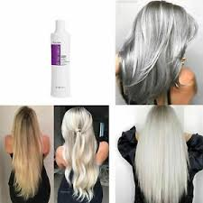 lightened decolored grey silver hair