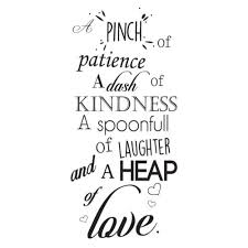 A Pinch Of Patience Wall Sticker Kitchen Quotes Wall Decal Love Home Decor Home Garden Decor Decals Stickers Vinyl Art
